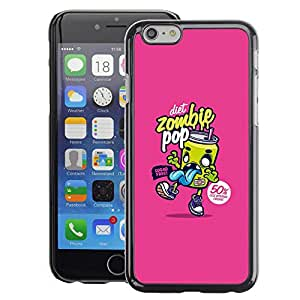 A-type Arte & diseño plástico duro Fundas Cover Cubre Hard Case Cover para iPhone 6 (Graffiti Pop Soda Food Art Street)