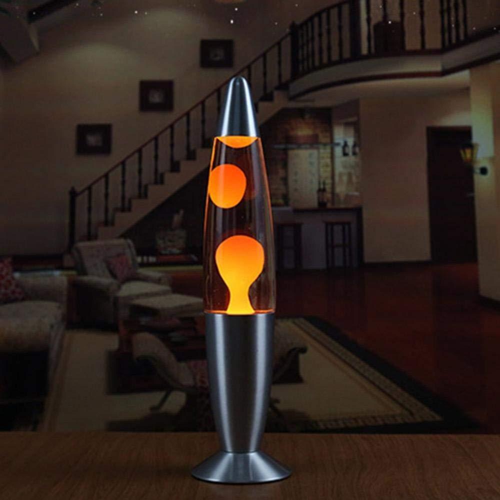 MOOTION Lavalampen-Metallunterseiten-Wachs-Vulkan-Art-Nachtlicht-Quallen-Nachtlicht-grellen Glanz-wei/ßgl/ühende Lava-Beleuchtung-Lampen Dropshipping-Blau