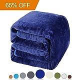 Balichun Luxury 330 GSM Fleece Blanket Super Soft Warm Fuzzy Lightweight Bed or Couch Blanket Twin/Queen/King Size(Queen,Royal Blue)