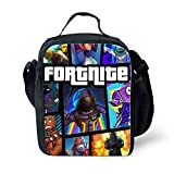 3D Printing Fortnite Lunch Box Bag Waterproof Insulated Lunch Bag Portable Lunchbox for Kids Boys School Travel Office (Fortnite B)