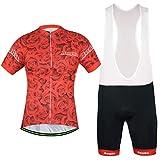 Uriah Women's Bicycle Jersey Bib Shorts Sets Short Sleeve Reflective