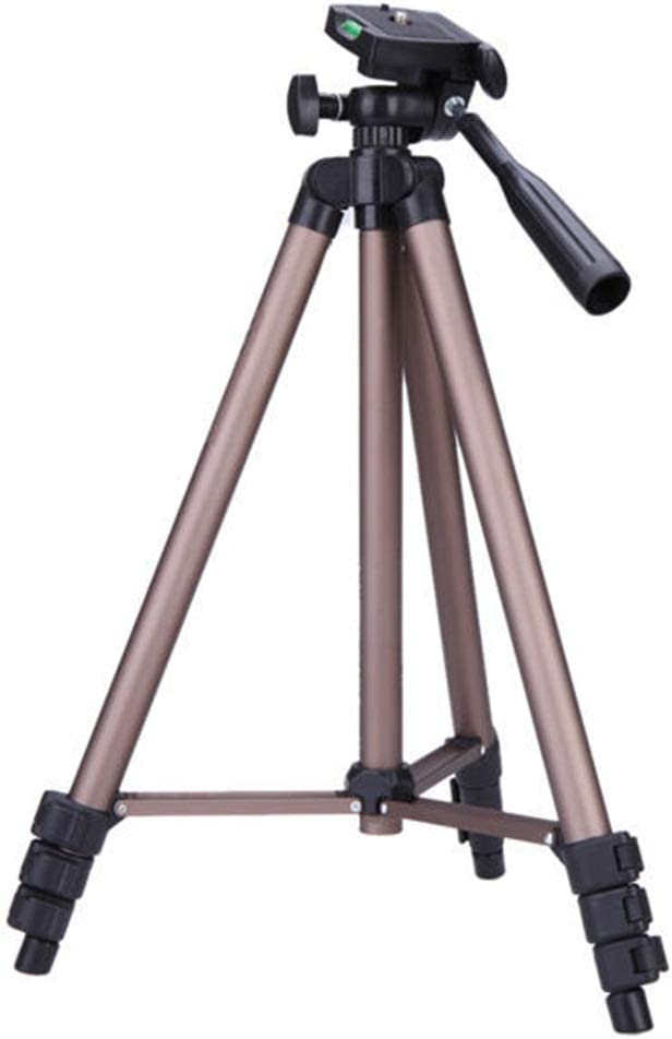 BWAM-elck Travel Tripod Monopod Aluminum Alloy Protable Tripod for DSLR Camera DV Camcorder Ideal for Travel and Work Color : Photo Color, Size : One Size