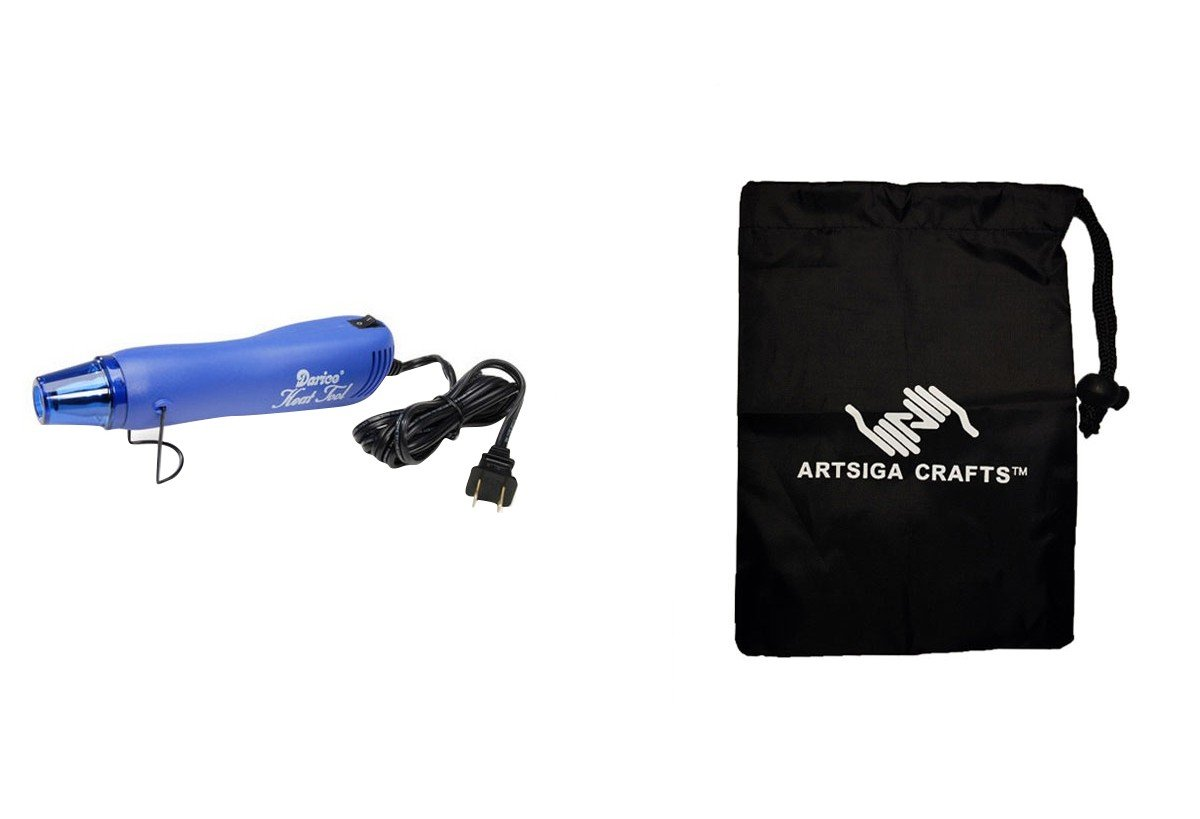 Darice Glue Gun Super Heat Gun w/Stand (3 Pack) 1199 10 Bundle with 1 Artsiga Crafts Small Bag