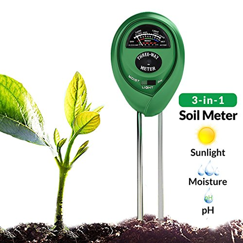 YHMALL Soil Meter, 3-in-1 Soil Moisture Light pH Tester, Soil Hygrometer Moisture Sensor Plant Tester Kits for Garden, Home, Farm, Lawn, Indoor & Outdoor (No Battery Needed)