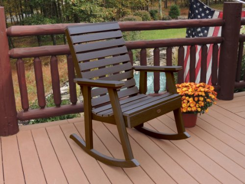 highwood Furniture Weatherly Rocking Chair Weathered Acorn -  - patio-furniture, patio-chairs, patio - 51iKi%2BjeSuL -