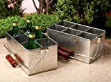 Galvanized Tin Picnic Utensil Caddy, Kitchen Organizer or Classroom Caddy - Assorted, 1 Per Order