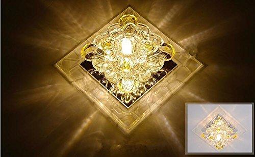 Zll luci led crystal luci vialetto corridoio luci soffitto lampada