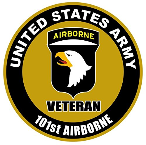 - 1 Pc Heart-stopping Unique United States Army Veteran 101st Airborne US Sticker Sign Window Vinyl Doors Wall Hoverboard Macbook Laptop Stickers Truck Bumper Bike Patches Graphics Decals Size 4