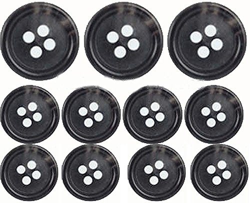 Premium (Horn) Suit Buttons Set- Dark Grey