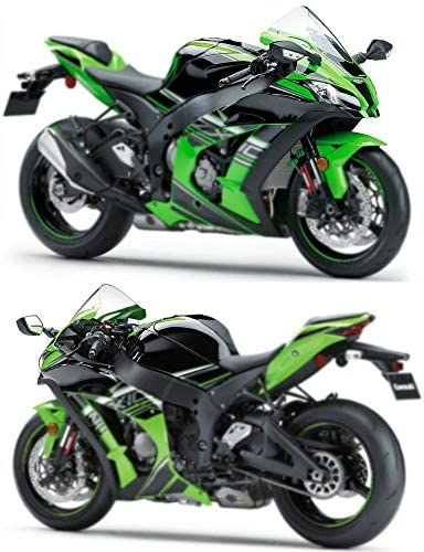 GMZQC オートバイABS 1ペアLEDリアビューミラーターンシグナルクリアレンズ。川崎忍者ZX10R ZX 10R ZX 10R 2016 2019 2017 2018