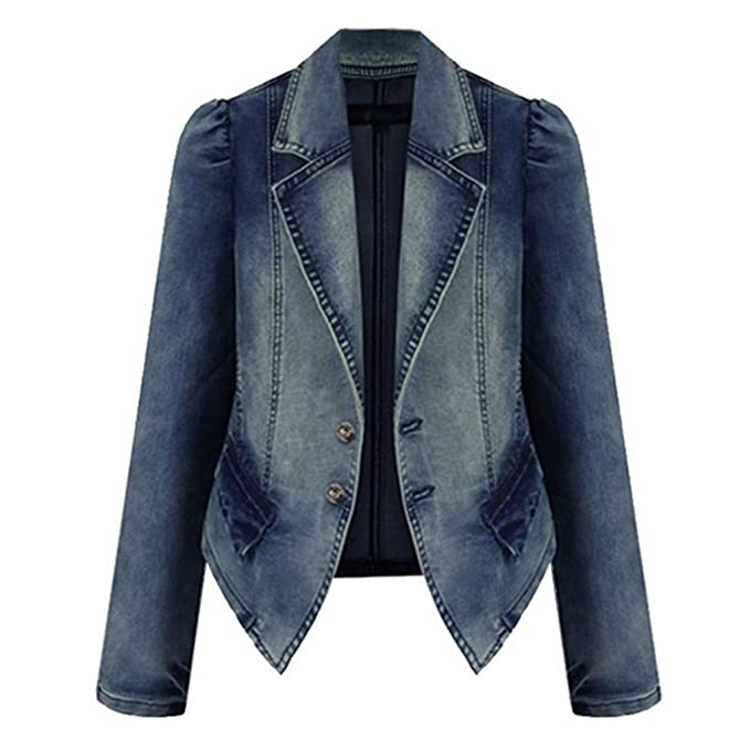 Hemlock Women Denim Coats Short Cowboy Jacket Long Sleeve Chaqueta Cardigan Tops Pullovers