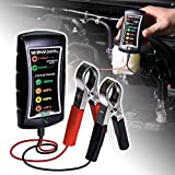 OLS 12/24V DC Automotive Battery Tester [Large Clamps] [LED Display] - Alternator/Battery Check/Diagnostic Tool for Cars Motorcycles Trucks