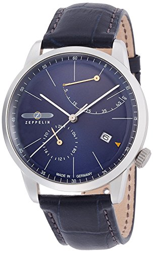 ZEPPELIN watch flat line navy dial automatic winding 73663 Men's [regular imported goods]