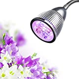 High Efficient Led Grow Light, Gledto Plants Grow Light Bulb 5W Clip Led Light Flexible Gooseneck Desk Lamp For Garden Greenhouse Hydroponic Aquatic Plants Home Indoor Flower Plant ( 630nm Red and 460nm Blue)