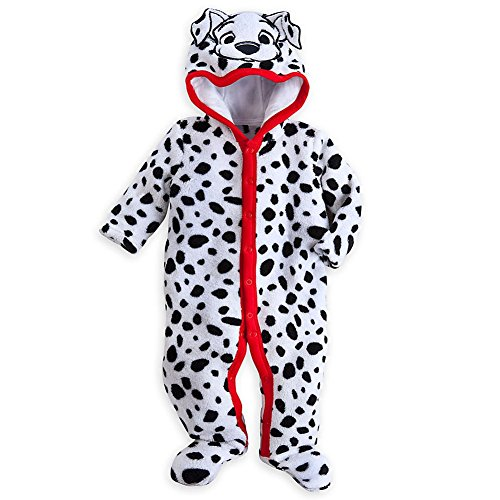 Disney Store 101 Dalmatians Deluxe Hooded Costume Romper Size 12-18 Months (Dalmatian Costumes For Toddlers)
