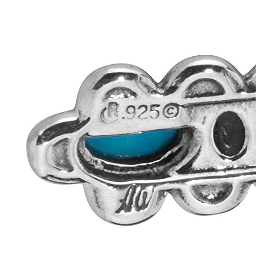 Sterling Silver Sleeping Beauty Turquoise Cross Pendant Enhancer by American West (Image #4)