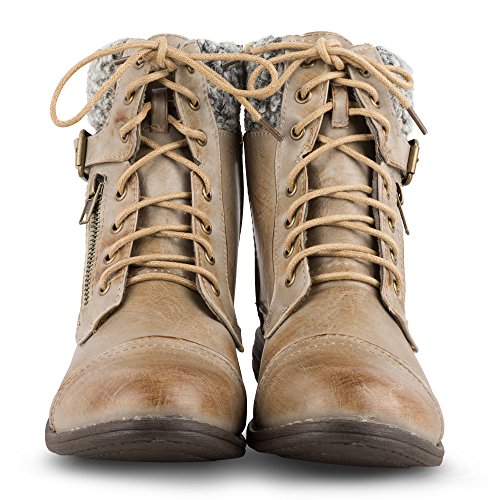 Twisted Women's Jamie Sherpa Cuff Combat Boot