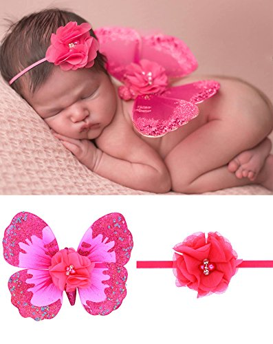 HOBULL Newborn Photo Props Butterfly Wings Girls DIY Photography Props Costume Photography Prop (Diy Costume Wings)