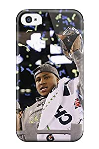 Hot Seattleeahawks First Grade Tpu Phone Case For Iphone 4/4s Case Cover