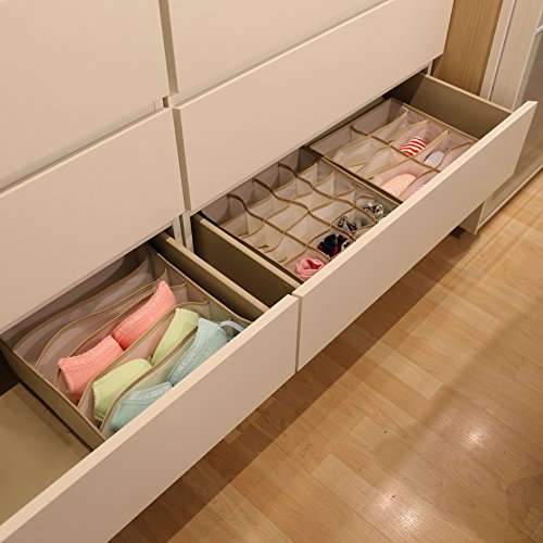 ezoware set of 3 drawer organizer closet dresser storage import it all. Black Bedroom Furniture Sets. Home Design Ideas