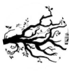 alfombrilla de ratón árbol - ronda - 20cm
