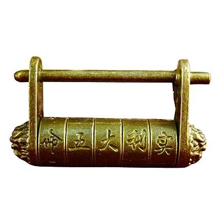 Superbe Zorvo Retro Old Style Antique Copper Lock Old Antique Door Lock Chinese  Password Lock Retro Chinese