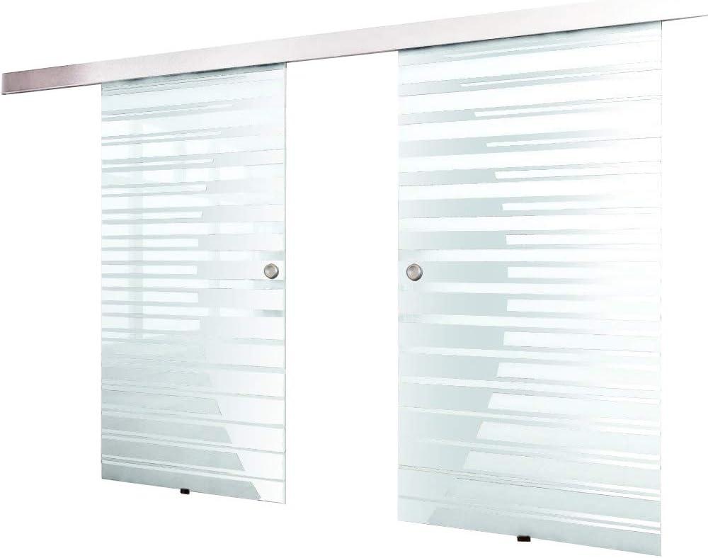 Home Deluxe Puerta doble corrediza de vidrio (2x77,5) inkl ...