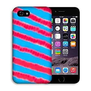 Casestars design Blue and red stripes zebra pattern Protective 3D White Case Cover for Apple iPhone 4/4s