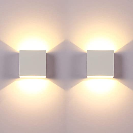 Led Wall Light Bedroom 2 Pcs Indoor Modern Wall Wash Lights Up And Down Wall Lamp With Long Life Energy Saving Led Suitable For Living Room Bedroom And Hallway Warm White Amazon Co Uk Lighting