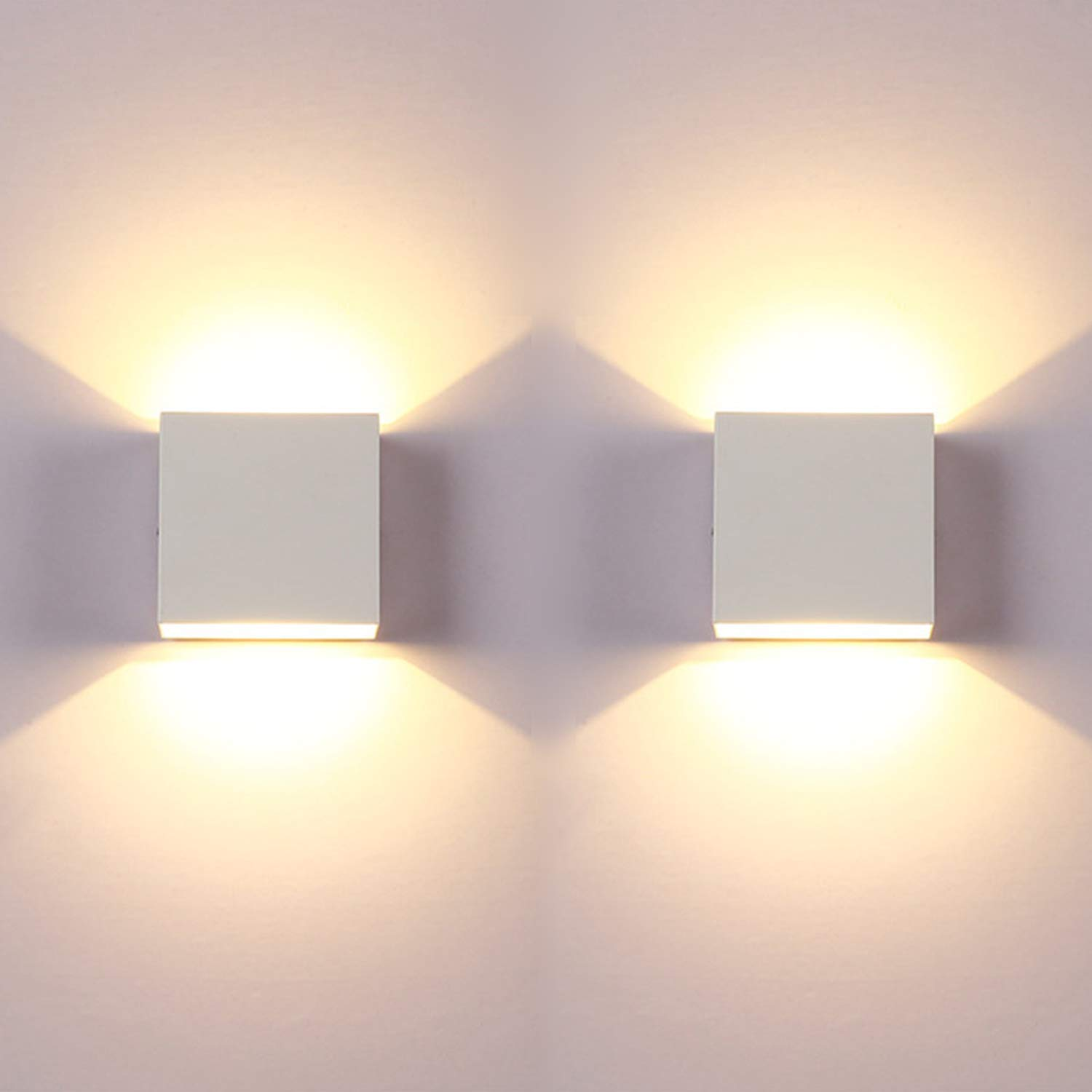 Led Wall Light Bedroom 2 Pcs Indoor Modern Wall Wash Lights Up And Down Wall Lamp With Long Life Energy Saving Led Suitable For Living Room Bedroom And Hallway Warm White Buy Online In Aruba At Aruba Desertcart Com