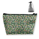 Trapezoid Toiletry Pouch Portable Travel Bag Nuts Seeds Zipper Wallet