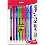 Pentel R.S.V.P. Ballpoint Pen, Medium Point, Assorted Ink Colors, 8 Pack  (BK91CRBP8M)