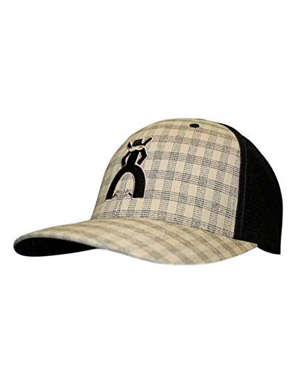 new arrival 58d0d edf34 ... discount code for hooey brand punchy black tan plaid flexfit hat l xl  e8abd a8f42