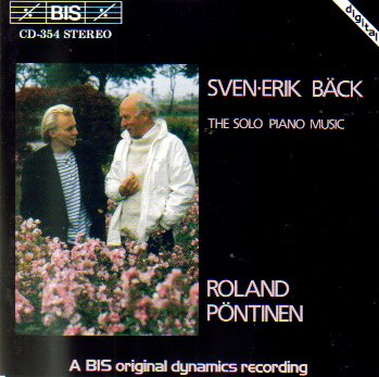 - Sven-Erik Back: The Solo Piano Music