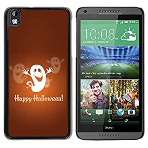 Graphic4You Halloween Theme Scary Ghost Design Thin Slim Rigid Hard Case Cover for HTC Desire 816