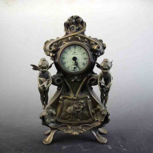 European angel Mechanics Desk clock Decoration copper Watch Artwork Ornament by Sunmir