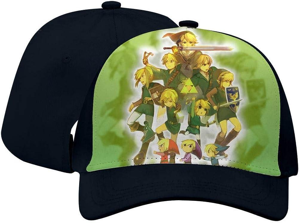 BEKAI Unisex Zel-Da Legend Green Adjustable Brimbill Flats Hat for Mens//Womens Hip Hop Caps