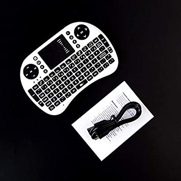 Color: Black English Calvas Mini i8 Wireless Keyboard 2.4GHz English Air Mouse Keyboard Remote Control Touchpad For Android TV Box Notebook Tablet Pc