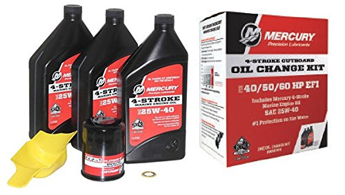 (Mercury OEM Oil Change & Filter Kit 40-50-60hp Four Stroke Outboard)