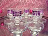 16 Plastic Purple Candle Holder Favor Decorations Party Supplies Special Occasions Purple