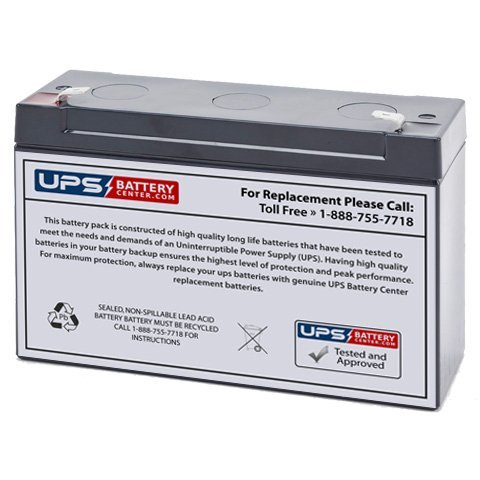 Imed Pc - 6V 12Ah F1 Sealed Lead Acid (SLA) Replacement Battery for IMED Gemini PC-2 Model 1320