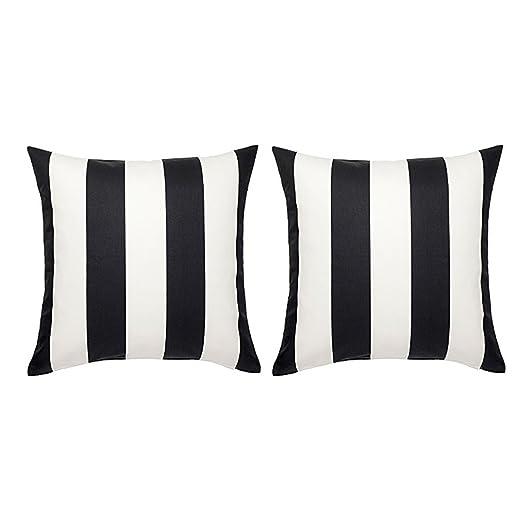 Ikea VARGYLLEN - Funda de cojín (2 Unidades), Color Blanco y ...