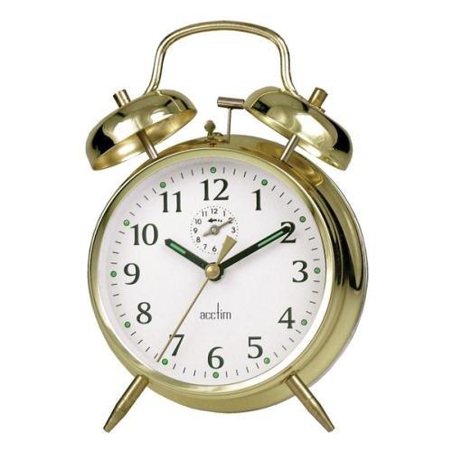Acctim Large-Bell Alarm Clock - Brass