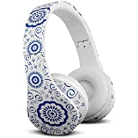 FX-Victoria for Bluetooth Headset Over Ear Headphone With Built in Microphone, Compatible with iPods, iPhones, iPads, Samsung/Android/Blackberry Smartphones, Tablets, PC and Laptops (8252Blue Floral)
