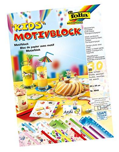 Folia 4949 - Motivblock Kids I, 24 x 34 cm, 30 Blatt, sortiert