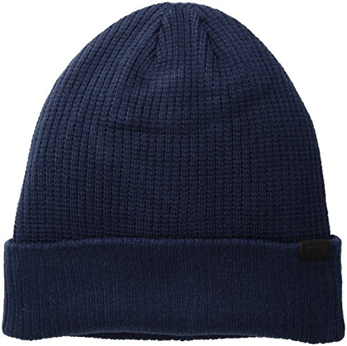 Levi's Men's Waffle Beanie with 2X1 Rib Cuff and Fleece Lining, Navy, One Size ()