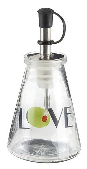 Botella de aceite de oliva You. Vidrio Love Signature Caja de la Toscana: Amazon.es: Hogar