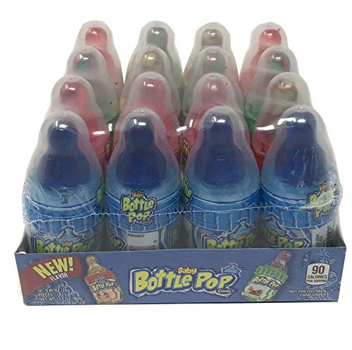 Baby Bottle Pop Candy Baby Bottles Assorted Flavors (Pack of 16)