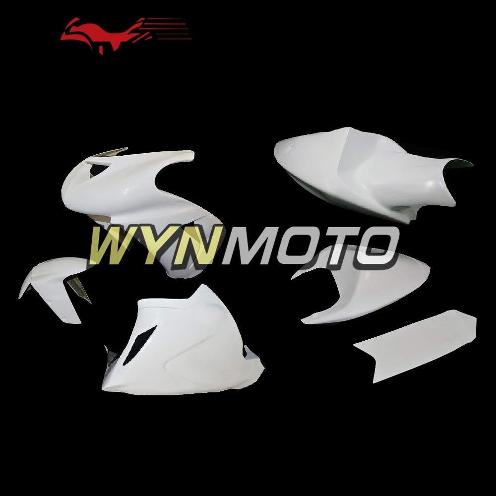 WYNMOTO オートバイ塗装グラスファイバー レーシング川崎 ZX6R 636 2005 2006 ZX 6R 05 06 裸グラスファイバー フェアリング車体のカウリングのフルフェア リング キットガラス繊維車体   B07MCZGCZ6