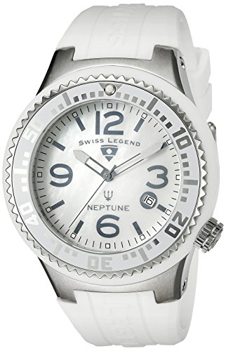 Swiss Legend Men's 21848P-02-MOP Neptune White MOP Dial White Silicone Watch